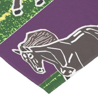 """Chemin De Table Court """" polo animal de course de zoo de cheval de"""