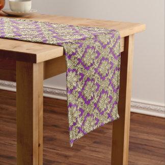 Chemin De Table Long Coureur élégant de Tableau de damassé de violette