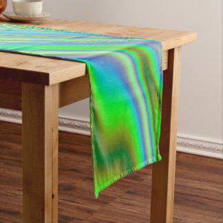 Chemin De Table Long Remous abstrait vert