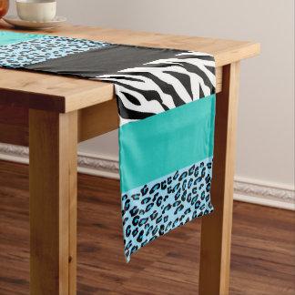 Chemin De Table Moyen Poster de animal, zèbre, léopard repéré - bleu