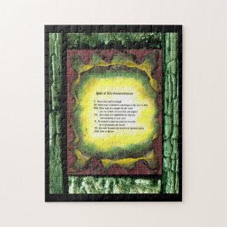 Chemin des commandements de la vie puzzle