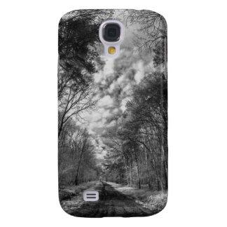 Chemin infrarouge de paysage à travers des bois coque galaxy s4