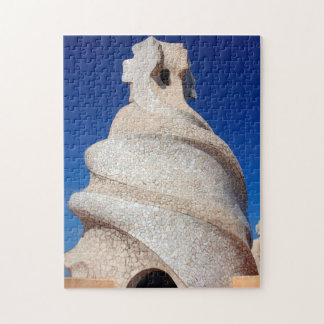 Cheminée de mosaïque puzzle