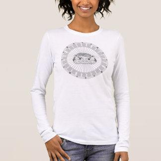 Chemise argentée de lion de lune t-shirt à manches longues
