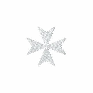 Chemise brodée blanche de croix maltaise sweats avec capuche