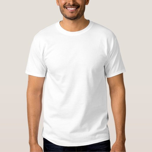 Blanc Embroidered T-shirt basique