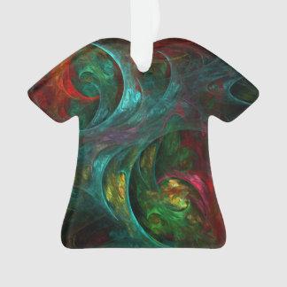 Chemise d'acrylique d'art abstrait de nova de