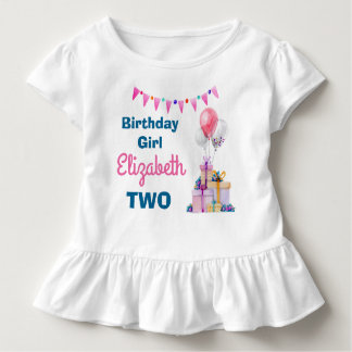 Chemise d'anniversaire de ballons de cadeaux t-shirt pour les tous petits