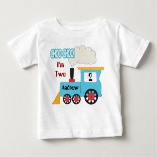 Chemise d'anniversaire de train de Choo Choo T-shirt Pour Bébé