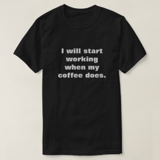 Chemise de café t-shirt