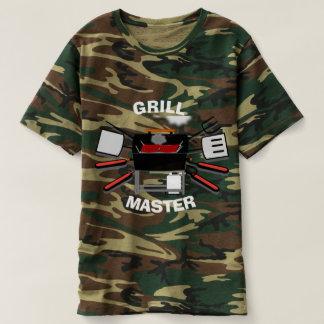 Chemise de camouflage de maître de gril t-shirt