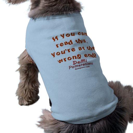 Chemise de chien, bleue tee-shirt pour animal domestique