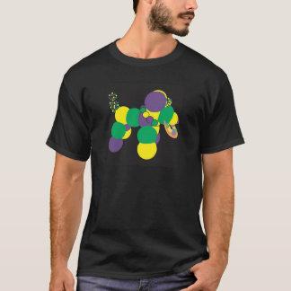 Chemise de chien de perle de mardi gras t-shirt