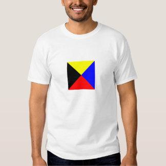 Chemise de couleur claire de drapeau de zoulou t-shirts