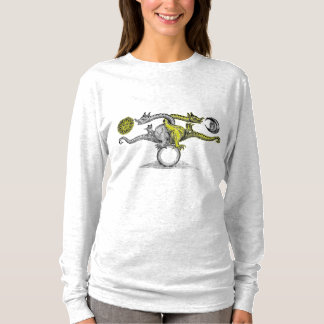 Chemise de douille de couleur d'oiseau de Hermes T-shirt