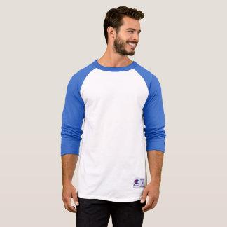Chemise de douille du raglan 3/4 du champion des t-shirt