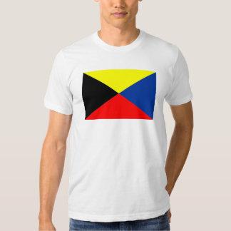 """Chemise de drapeau de code de """"zoulou"""" tee-shirts"""
