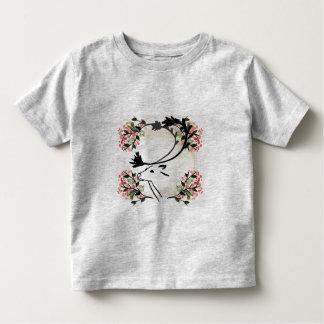 chemise de fantaisie d'enfant en bas âge de fleur t-shirt pour les tous petits