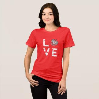 Chemise de fierté de polonais d'amour de jour de t-shirt