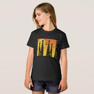 Chemise de fille de Barcelone T-Shirt