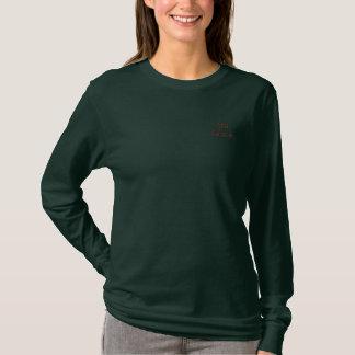 Chemise de la douille des femmes de grâce d'Alia T-shirt À Manches Lomgues Brodée