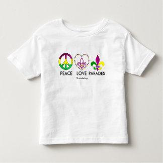 Chemise de mardi gras de DÉFILÉS d'AMOUR de PAIX T-shirt Pour Les Tous Petits