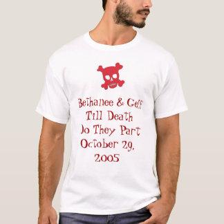 Chemise de mariage de Bethanee et de Geff T-shirt