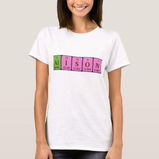 Chemise de nom de table périodique d'Alison T-shirt