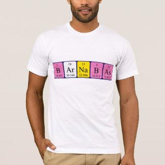 Chemise de nom de table périodique de Barnabas T-shirt