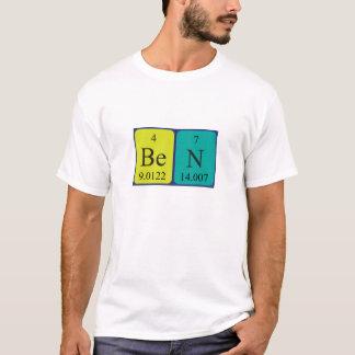 Chemise de nom de table périodique de Ben T-shirt