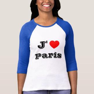 Chemise de Paris d'amour de la chemise de J'aime T-shirt