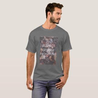 Chemise de pronoms de genre de respect t-shirt