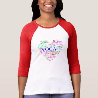 Chemise de yoga de coeur - long dessus de yoga de t-shirts