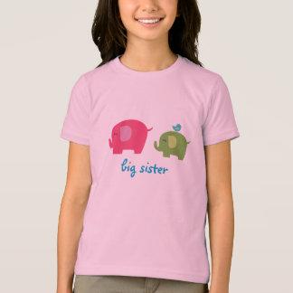 Chemise d'éléphant de grande soeur t-shirt