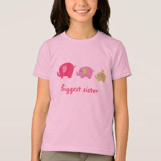 Chemise d'éléphant de la plus grande soeur t-shirt