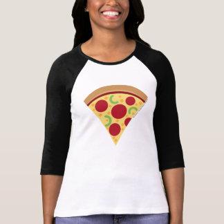 Chemise d'Emoji Longsleeve de la pizza des femmes T-shirt