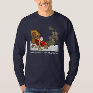 Chemise drôle de Noël de Chambre de Schmidt T-shirt