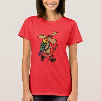 Chemise drôle de randonnée d'orignaux t-shirt