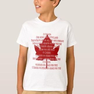Chemise du Canada de souvenir de T-shirt d'hymne