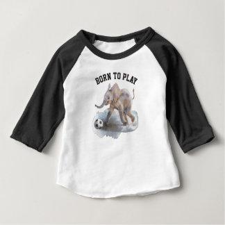 Chemise espiègle de raglan d'éléphant de douille t-shirt pour bébé