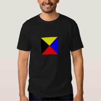 Chemise Foncé-Colorée par drapeau de zoulou T Shirts