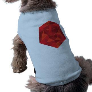 Chemise géométrique de chienchien de lion vêtement pour animal domestique