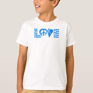 Chemise grecque de la jeunesse de drapeau de paix t-shirt