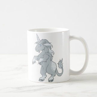 Chemise grise de licorne mug