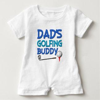 Chemise jouante au golf de bébé de l'ami du papa barboteuse