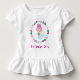 Chemise mignonne de fille d'anniversaire de sirène t-shirt pour les tous petits