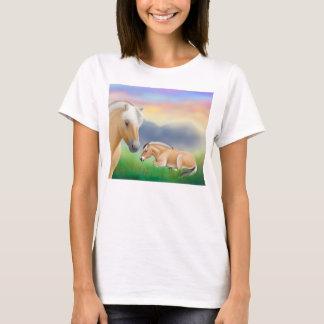 Chemise norvégienne de Babydoll de chevaux de T-shirt