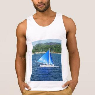 Chemise sans manche d'île