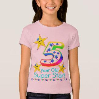 Chemise superbe an d'étoile des filles 5 t-shirt