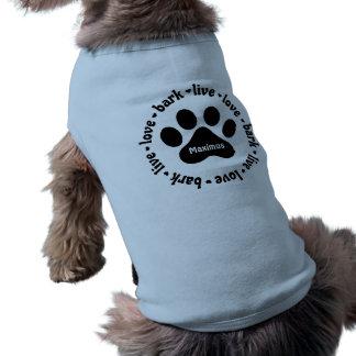 Chemise vivante de chien personnalisée par t-shirt